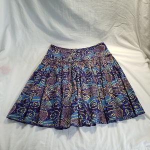 Tiered A-line Short Skirt Sz 6 Lined